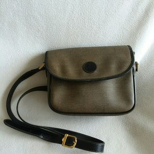 FENDI Vintage Brown + Tan Crossbody Handbag